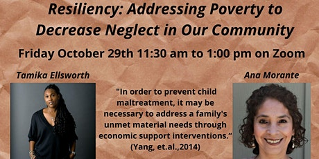 Resiliency: Addressing Poverty to Decrease Neglect in our Communities tickets