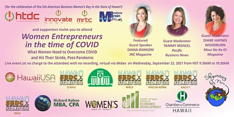 WOMEN ENTREPRENEURS IN THE TIME OF COVID tickets