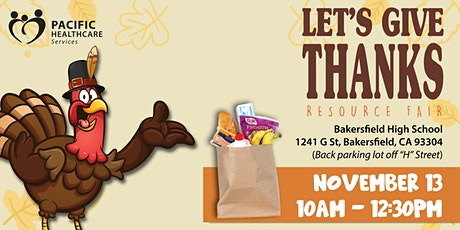 """Pull Up- Pick Up """" Let's Give Thanks Resource Fair"""" tickets"""