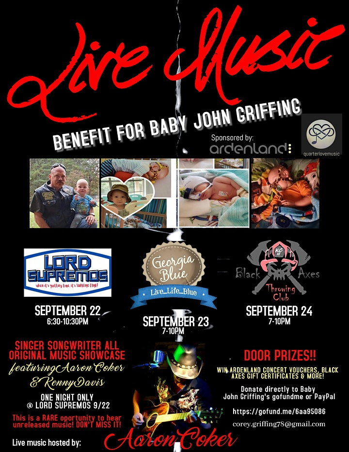 BABY JOHN GRIFFING BENEFIT Hosted by Aaron Coker & Georgia Blue Flowood image