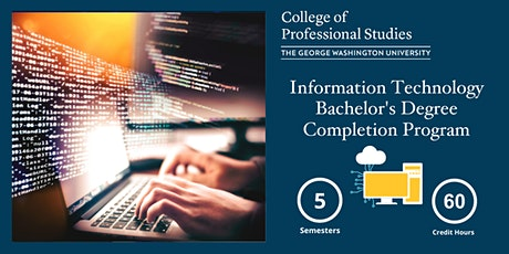 GW's IT Bachelor's Degree Completion Program Online Info Session tickets