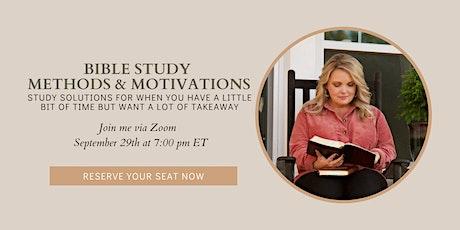 Bible Study Methods & Motivation Class w/ Nicki Koziarz tickets