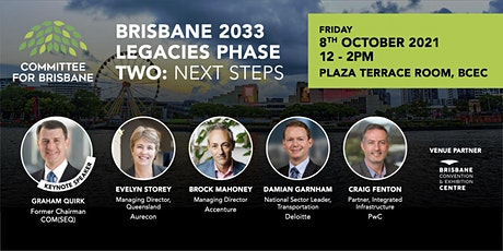 Brisbane 2033 Legacies Phase Two: next steps tickets