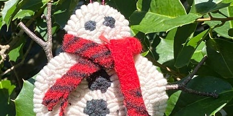 Rug Hooked Snowman Ornament Class tickets
