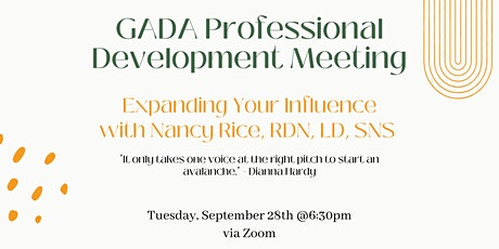 GADA Professional Development Meeting tickets