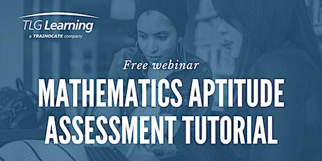 Math Aptitude Assessment Tutorial tickets