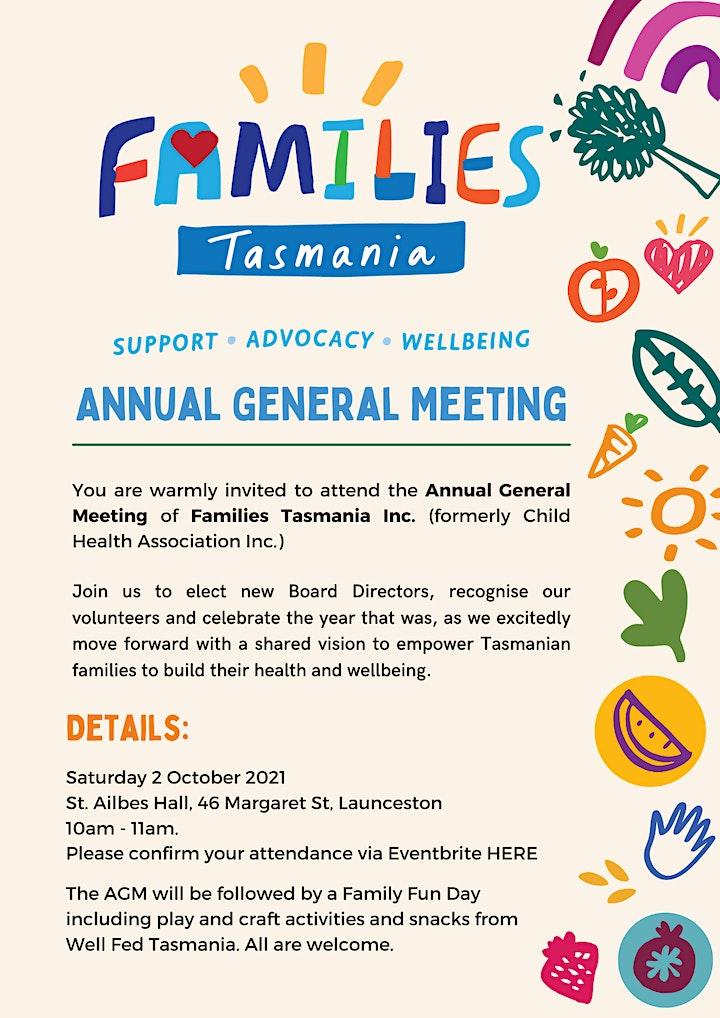 Families Tasmania - Annual General Meeting image