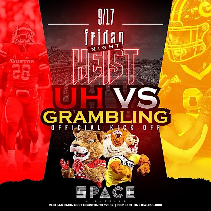 UH vs GRAM + VIRGO SZN - HEIST FRIDAYS at SPACE HTX - FREE ENTRY w/ RSVP image