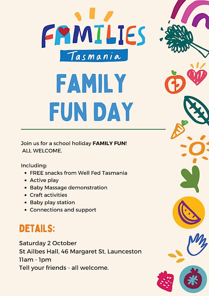Families Tasmania - Family Fun Day! image