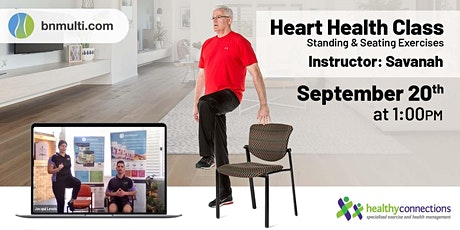 Heart Health - Free Online Exercise Class tickets