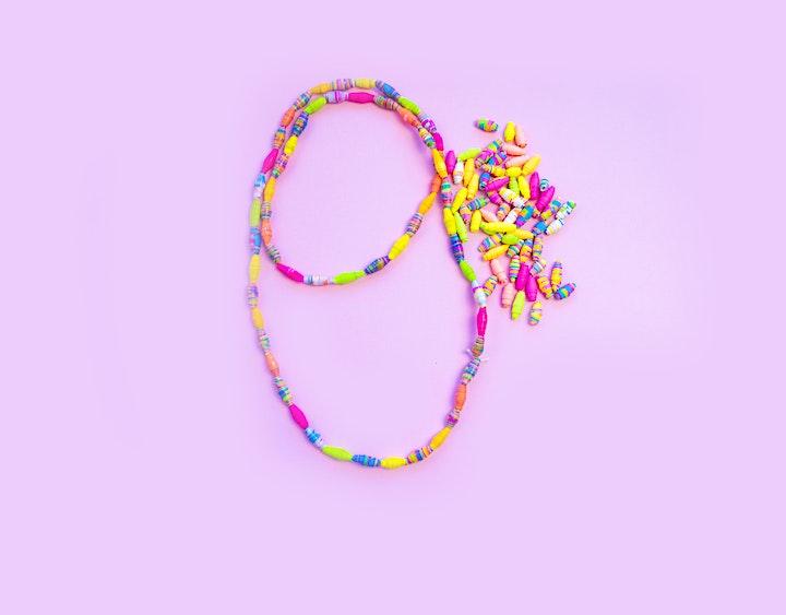 Get Crafty - Adult Paper Jewellery Workshop online via ZOOM image