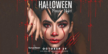Halloween Monster Night 2021 // Sunset Room Hollywood tickets
