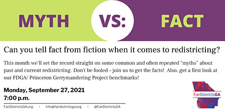 Fair Districts GA Town Hall: Redistricting Myths and Facts tickets