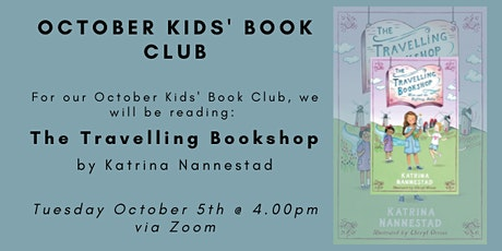 October Kid's Book Club - THE TRAVELLING BOOKSHOP tickets
