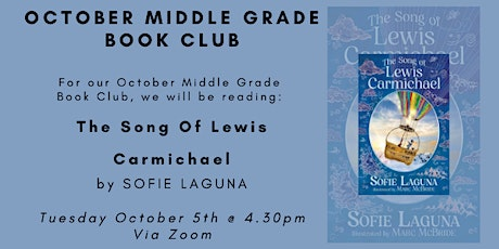 October Middle Grade Book Club - THE SONG OF LEWIS CARMICHAEL tickets
