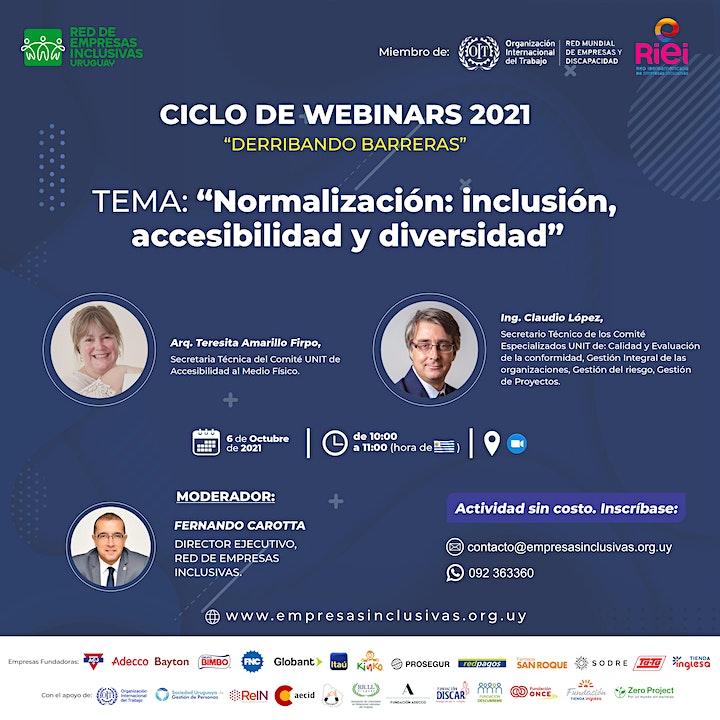 """Imagen de Webinar: """"Normalización: inclusión, accesibilidad y diversidad""""."""