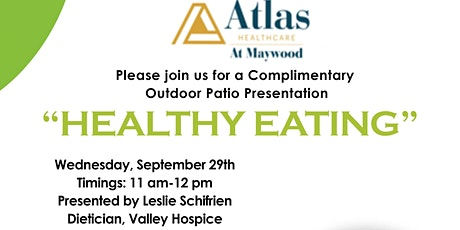 Healthy Eating - on the Patio tickets