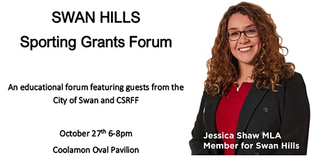 Swan Hills Sporting Grants Forum tickets