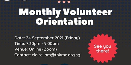 SG Cares VC @ Boon Lay - Volunteers' Orientation / September 2021 (Online) tickets