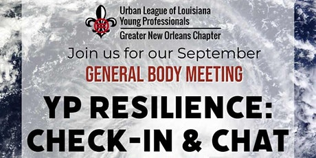 YP  Resilience: Check-In & Chat - General Body Meeting tickets