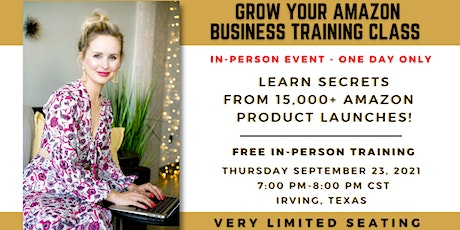 Launch Your Amazon Business Training With Ashley Kinkead - In-Person Class tickets
