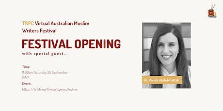 TRPC Virtual Festival: Official Opening w/guest Dr Randa Abdel-Fattah tickets