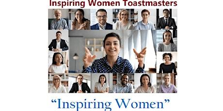 Inspiring Women  Toastmasters biglietti