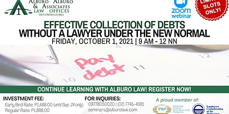 Effective Collection of Debts Without a Lawyer under the New Normal tickets