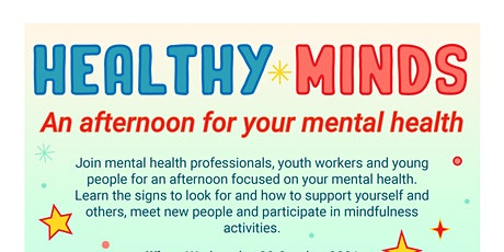 Healthy Minds - An afternoon for your mental health tickets