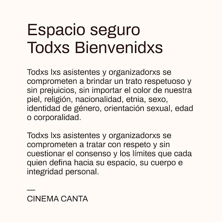 Imagen de Cinema Canta Presenta: práctica taller de Shibari