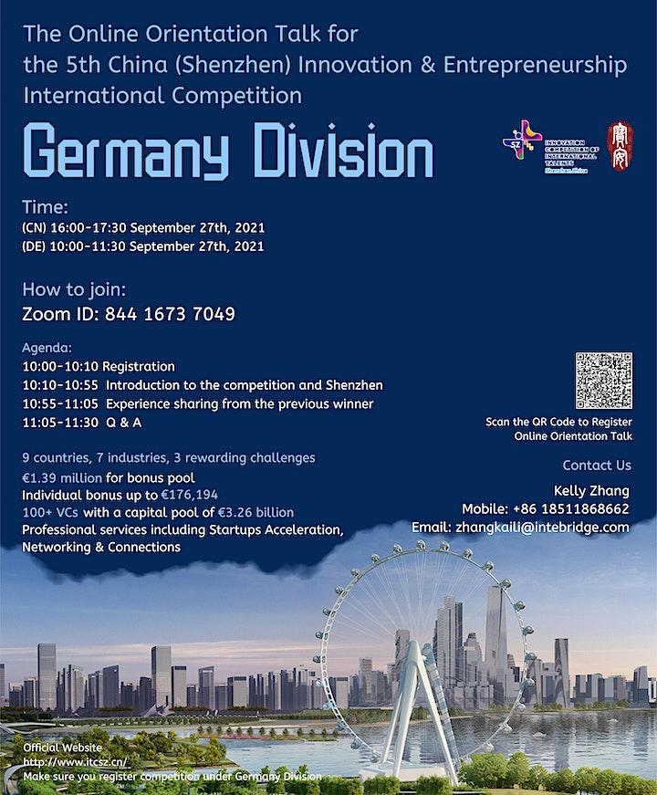 The China Innovation&Entrepreneurship Competition(Germany) Orientation Talk image