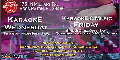 Karaoke at Nippers   Boca Raton, FL   Every Friday! tickets
