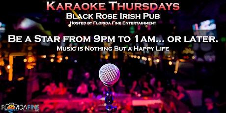 Karaoke at Black Rose Irish Pub | Boca Raton, FL | Every Thursday! tickets