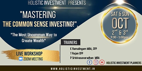 Mastering The Common Sense Investing! tickets