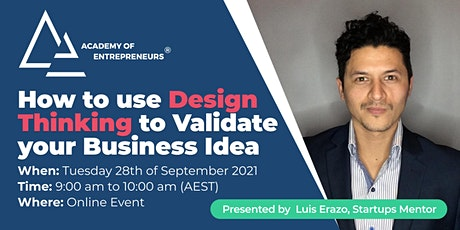 How to use Design Thinking to Validate your Business Idea tickets