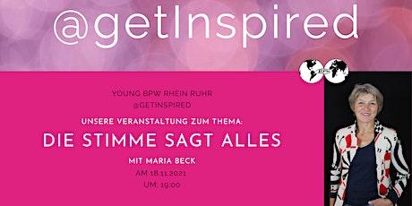 Young BPW Rhein Ruhr  - @getInspired: Die Stimme sagt alles Tickets