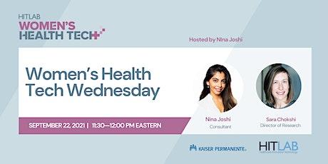 Women's Health Tech Wednesdays   HITLAB tickets