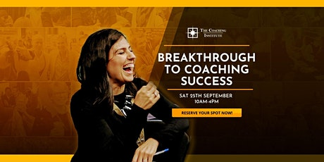 Breakthrough to Coaching Success tickets