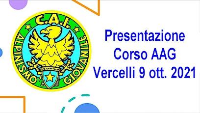 Iscrizione presentazione corso AAG biglietti
