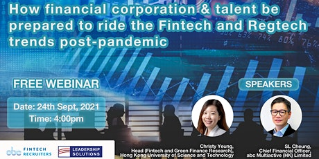 How to prepare to ride the Fintech and Regtech trends post-pandemic tickets