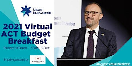 2021 Virtual  ACT  Budget Breakfast tickets