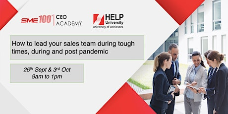 How to Lead Your Sales Team During Tough Times, During and Post Pandemic tickets