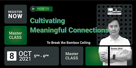 Masterclass: How to Cultivate Meaningful Connections tickets