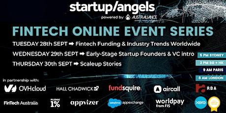 Startup&Angels - Fintech Online Event Series tickets
