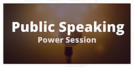 Public Speaking Power Session - Zoom Workshop tickets