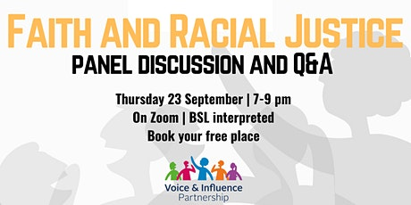 Faith and Racial Justice – panel discussion and Q&A tickets