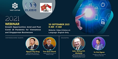 """WEBINAR - """"Growth Opportunities Amid and Post Covid-19 Pandemic for Vietnam tickets"""