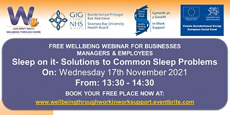 Sleep on it- Solutions to Common Sleep Problems tickets