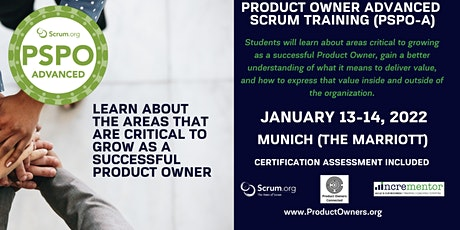 Certified Training | Product Owner - Advanced (PSPO-A) Tickets