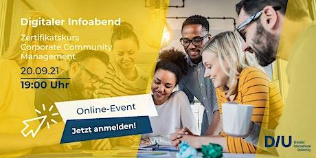 Digitaler Infoabend Corporate Community Management Tickets